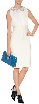 Valentino Patent Leather Clutch in Blue