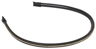 Remington Black Faux Leather Headband