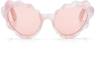 Opening Ceremony Flower Cat Eye Sunglasses in Light Pink Pearl
