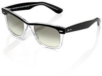 Ray-Ban Wayfarer II Sunglasses, Clear & Black