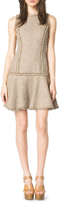 Michael Kors Drop-Skirt Tweed Dress