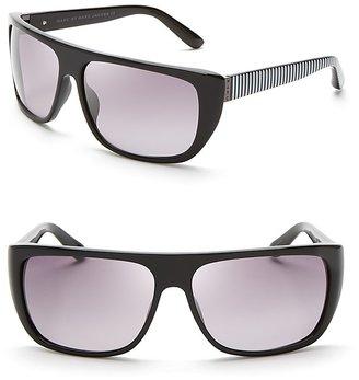 Marc by Marc Jacobs Side Stripe Shield Sunglasses