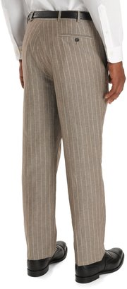 Brooks Brothers Madison Fit Wide-Stripe Linen Trousers