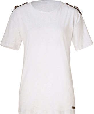 Burberry White mélange tee