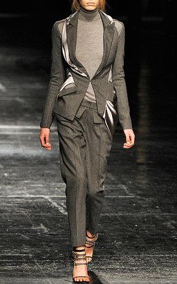 Prabal Gurung Rib-Knit Turtleneck in Grey
