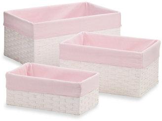 Bed Bath & Beyond 3-Piece Paper Rope Storage Set - Pink