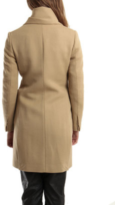 3.1 Phillip Lim Detachable Scarf Single Breasted Wool Coat