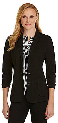 Chaus Ruched-Sleeve 2-Pocket Blazer