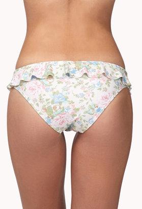 Forever 21 FOREVER 21+ Ruffled Garden Rose Bikini Bottom