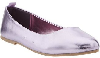 Old Navy Girls Metallic Faux-Leather Flats