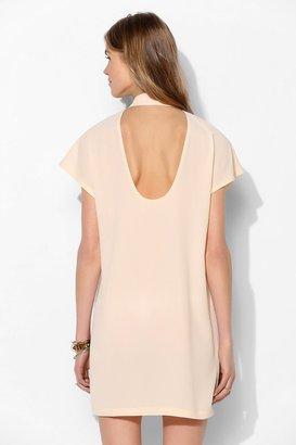 Sparkle & Fade Cutout-Back Shirtdress