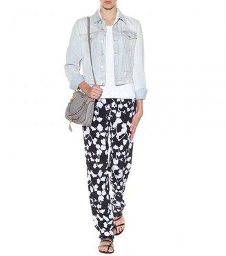 Diane von Furstenberg Benett Two printed silk straight-leg trousers
