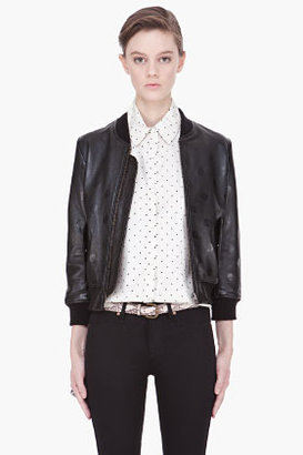 Marc by Marc Jacobs Black Gia Dot Leather jacket