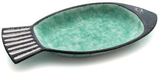 Crate & Barrel Fish Green Serving Bowl
