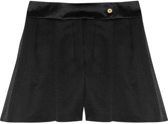 Yves Saint Laurent Pleated wool-twill shorts