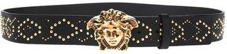 Versace studded Medusa belt
