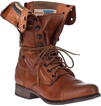 Steve Madden SHOES Camarro Lace-Up Boot Tan Leather