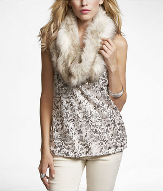 Express Faux Fur Looped Scarf