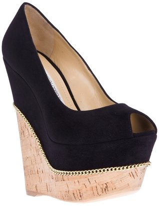 Gianmarco Lorenzi Collector peep toe wedge