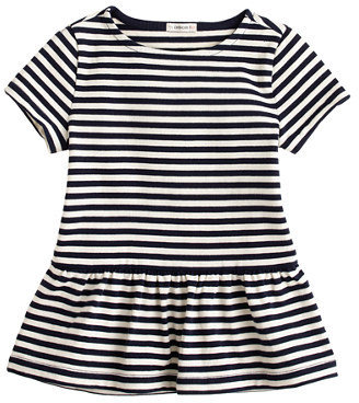 J.Crew Girls' short-sleeve peplum tee in stripe