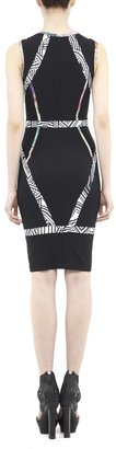Nicole Miller Trompe L'Oeil Prints Dress