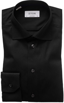 Eton Black Signature Twill Shirt - Contemporary Fit