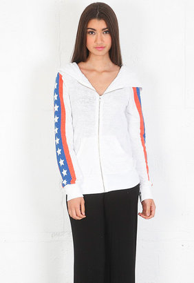 Wildfox Couture Sir Yes Sir Track Suit Jacket in Clean White