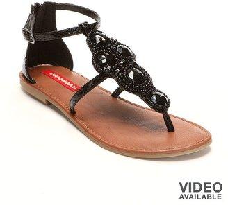UNIONBAY regal embellished t-strap sandals - women