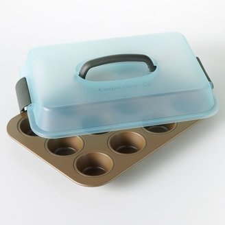 Calphalon Cooking with covered 12-cup muffin pan