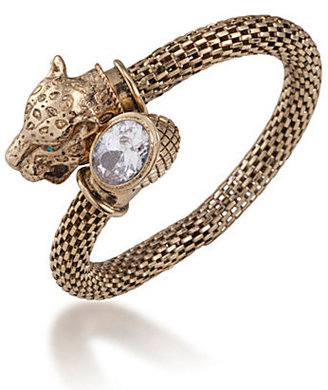 Carolee 40th Anniversary Legacy Collection Panther Coil Stretch Bracelet