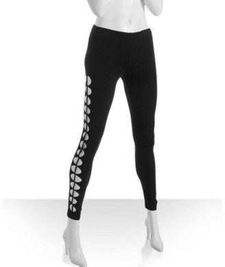 Romeo & Juliet Couture black stretch cotton ripped side leggings