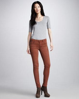 J Brand Jeans 620 Bourbon Mid-Rise Super Skinny Jeans