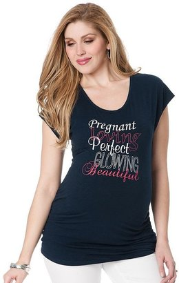 """Oh Baby by motherhood™ """"pregnant perfect"""" ruched tee - maternity"""