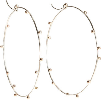 Dean Harris Diamond Bud Thin Hoop Earrings