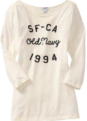 Old Navy Women's 3/4-Sleeve Sequined Tees