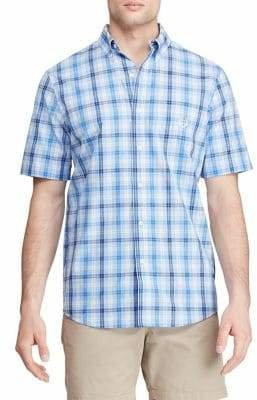 Chaps Short Sleeve Easy Care Button Down Shirt