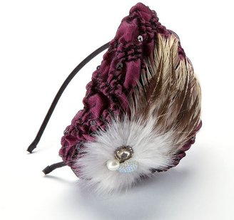 Candies Candie's® feather & lace gathered headband