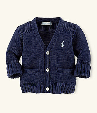 Ralph Lauren 3-9 Months Signature-Embroidered Cardigan