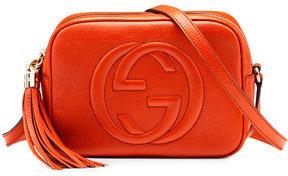 Gucci Soho Leather Disco Bag, Orange