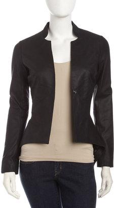 Neiman Marcus Leather Jacket, Black