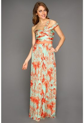 BCBGMAXAZRIA Inga Evening Dress (Bright Nectar Combo) - Apparel