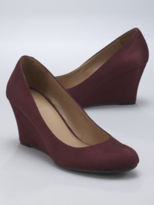New York & Co. Faux Suede Round Toe Wedge