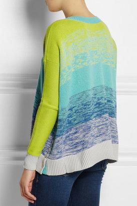 Matthew Williamson Digital Haze neon cotton sweater