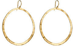 Lisa Stewart Hammered Dangle Hoop Earrings