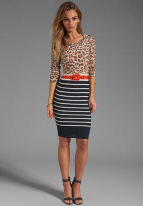 Sonia Rykiel SONIA by Thin Wool Leopard Dress in Leopard/Black/Viva