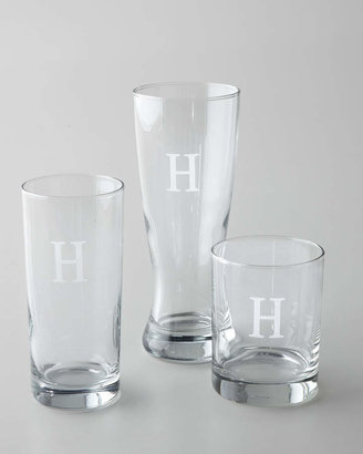 Horchow Monogrammed Double Old-Fashioneds, Set of 4