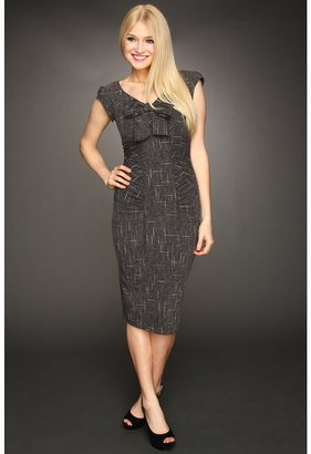 The Cool People Stop Staring! for Caroline Fitted Dress (Dark Grey) - Apparel