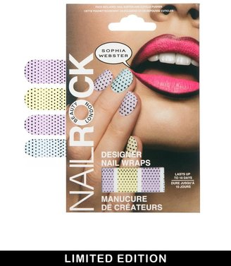 Webster Sophia for Nail Rock Limited Edition Dots To Hearts 3D Nail Wraps