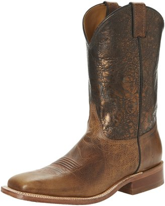 "Justin Boots Men's U.S.A. Bent Rail Collection 13"" Boot Wide Square Double Stitch Toe Leather Outsole Black Wildebeest/Red Classic 13 D US"