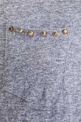 Monrow Studded Pocket Top